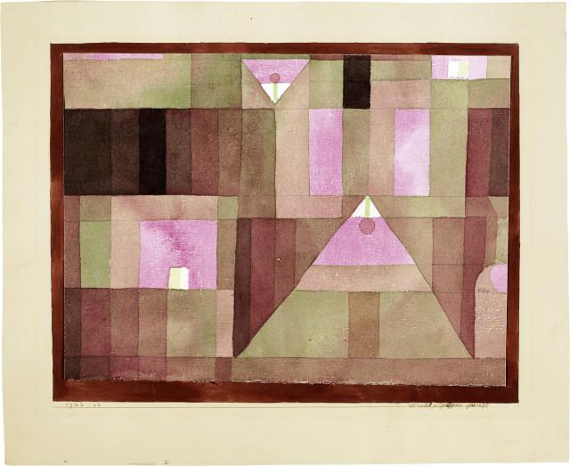 Paul Klee : rot/violett x gelb/grün gestuft, 1922 - Werknummer 1922.64